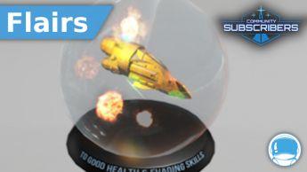 Space Globe - Good Health - Flair - Subscriber