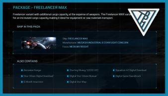 Freelancer MAX Package - Includes Squadron 42, PU Access and much more