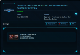 Freelancer to Cutlass Red Subscriber Edition
