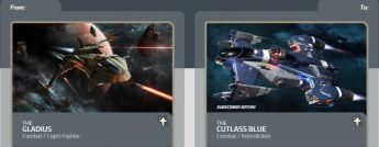 Gladius  to Cutlass Blue Subscriber