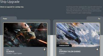Aegis Gladius to Esperia Talon Shrike Upgrade