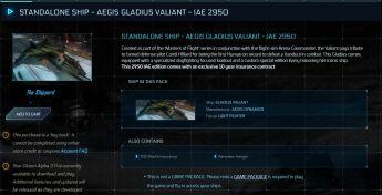 Aegis Gladius Valiant - IAE 2950 - 10 yrs ins