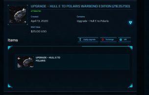 Hull E to RSI Polaris Warbond Edition - Upgrade