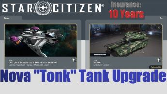 Flash Sale > A CCU Upgrade - Cutlass Black 2949 Best In Show to Tumbril Nova Tank w/ 10 Years Insurance