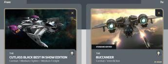 Cutlass Black Best in Show to Buccaneer Upgrade