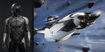 RSI Mantis - LTI (original, rare Sabine flight suit + Calva helmet)