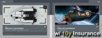 Mercury Star Runner to Vanguard Harbinger (CCU - Upgrade) w/ 10y Insurance