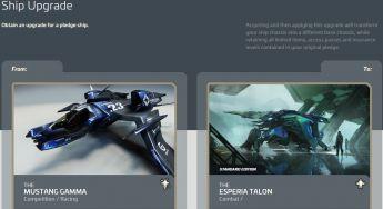 Mustang Gamma to Esperia Talon Upgrade