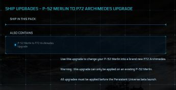 P-52 Merlin to P72 Archimedes Upgrade