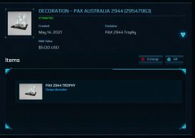 PAX Australia 2944 Trophy