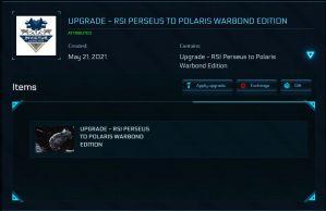 RSI Perseus to Polaris Upgrade with 10 yrs ins!!!!!