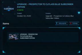 Flash Sale > Upgrade - Prospector To Cutlass Blue - w/ Sub. Flairs