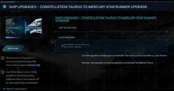Constellation Taurus to Mercury Star Runner Upgrade