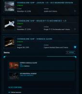 Javelin Account - Vanduul Glaive - Pheonix upgrade - various other ships