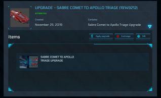 Flash Sale > Sabre Comet to Apollo Triage Upgrade