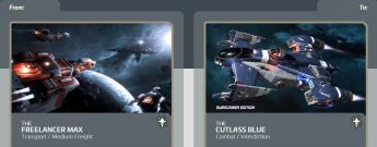 Freelancer MAX to Cutlass Blue Subscriber Edition