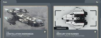 Andromeda to Mercury Star Runner Upgrade