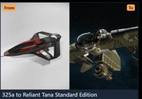 325a to Reliant Tana-Upgrade