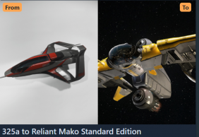 325a to Reliant Mako Standard Edition