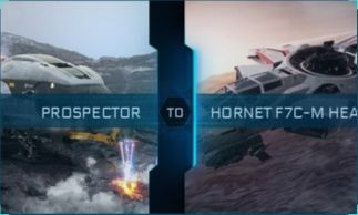 Prospector to Hornet F7C-M Heartseeker Upgrade CCU