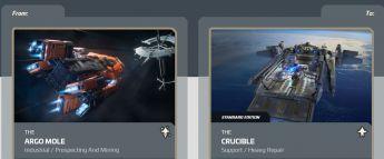 Argo Mole to Crucible Upgrade CCU