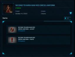 Second Tevarin War Red Dress Uniform