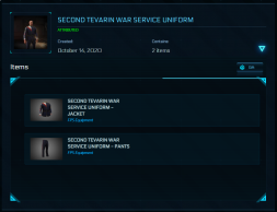 Second Tevarin War Service Unifom