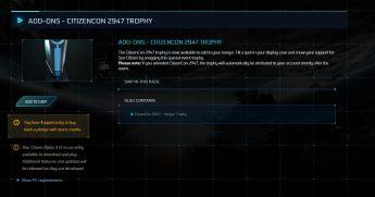 CitizenCon 2947 - Hangar Trophy