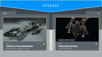 Constellation Andromeda to Aegis Vanguard Sentinel (Upgrade)
