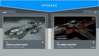 Constellation Taurus to Anvil F7C Hornet Wildfire (Upgrade)