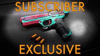 WowBlast Desperado Toy Pistol Teal - Subscriber Exclusive