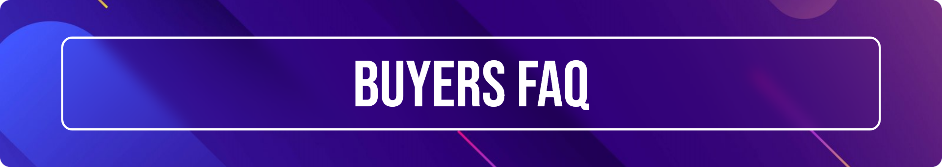 Star Hangar - Buyers Frequently Asked Questions